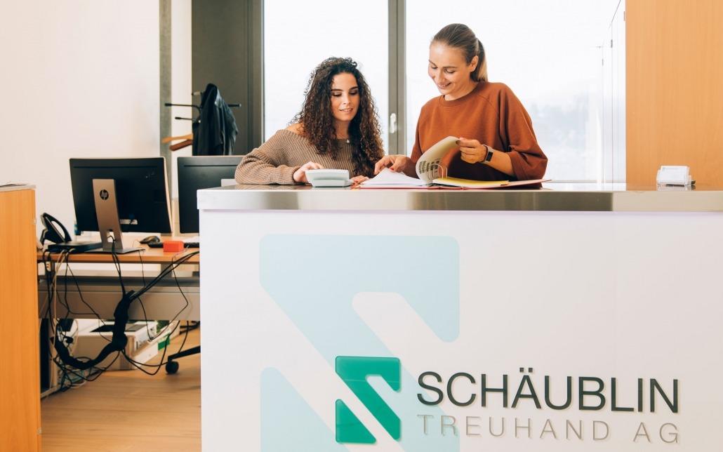 Schäublin Büro Empfang